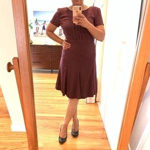 Talbots: wine color career dress-135